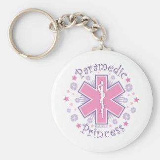 Paramedic Princess Basic Round Button Key Ring