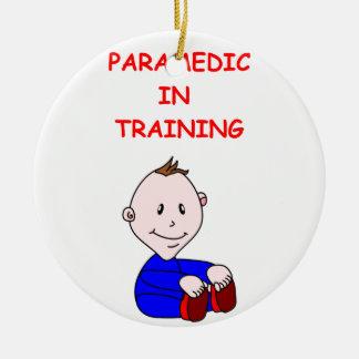 paramedic round ceramic decoration