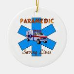 Paramedic Saving Lives Christmas Ornament