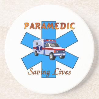 Paramedic Saving Lives Drink Coaster