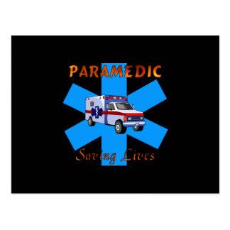 Paramedic Saving Lives Postcard