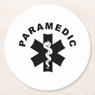 Paramedic Theme Round Paper Coaster