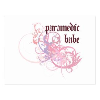 Paramedic Work Babe Postcard