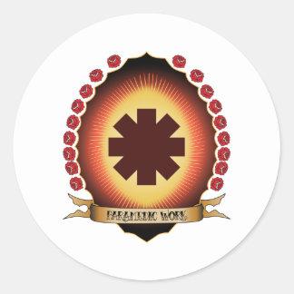 Paramedic Work Mandorla Round Sticker