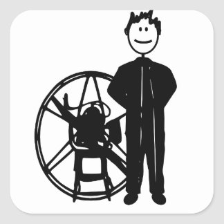 Paramotor Pilot Square Sticker