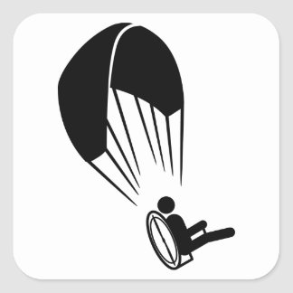 Paramotoring Square Sticker