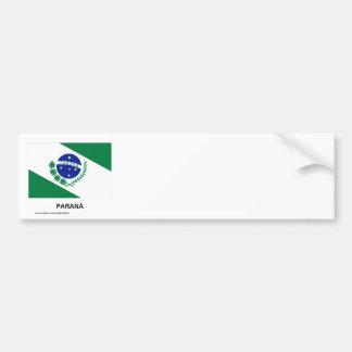 Paraná, Brazil Flag Bumper Sticker