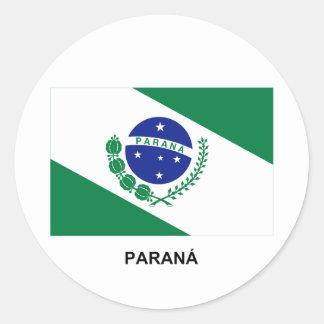Paraná, Brazil Flag Classic Round Sticker