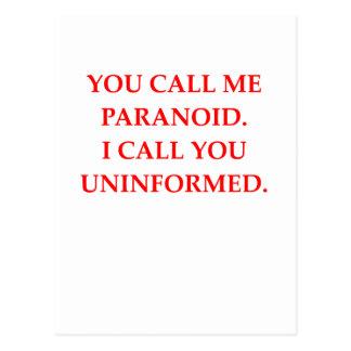 paranoid postcards