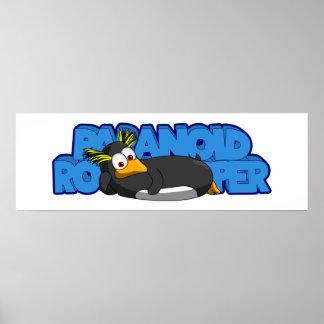 Paranoid Rockhopper logo poster