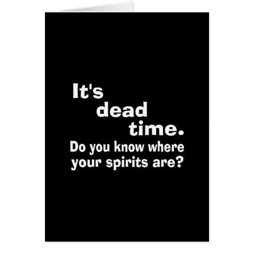 Paranormal Dead Time Public Service Announcement Card