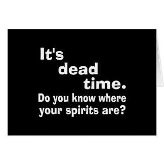 Paranormal Dead Time Public Service Announcement Cards