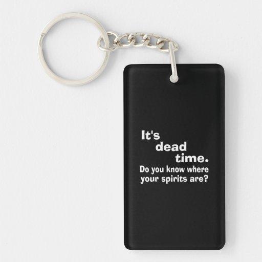 Paranormal Dead Time Public Service Announcement Acrylic Key Chain