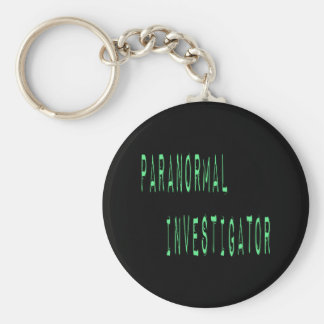 Paranormal Investigator - Black Background Keychains