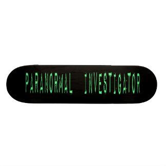 Paranormal Investigator - Black Background Skate Boards