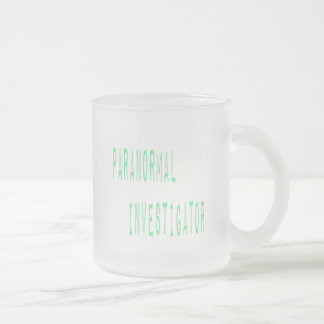 Paranormal Investigator Frosted Glass Coffee Mug