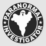 Paranormal Investigator Logo Decal Round Stickers