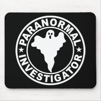 Paranormal Investigator Logo Ghost Hunting Mouse Mat
