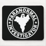 Paranormal Investigator Logo Ghost Hunting Mousepad
