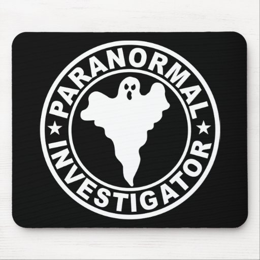 Paranormal Investigator Logo Ghost Hunting Mousepads