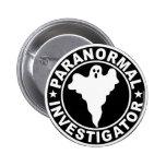 Paranormal Investigator Logo Halloween Costume Button