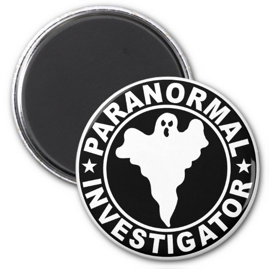 Paranormal Investigator Logo Supernatural Ghost 6 Cm Round Magnet
