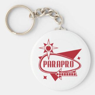 Parapro - Retro Red 60's Inspired Sign Basic Round Button Key Ring