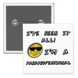 Paraprofessional 15 Cm Square Badge