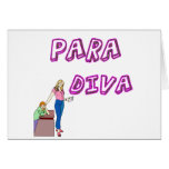Paraprofessional Diva Greeting Card