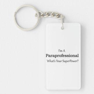 Paraprofessional Double-Sided Rectangular Acrylic Key Ring