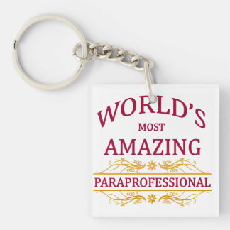Paraprofessional Single-Sided Square Acrylic Key Ring