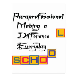 PARAPROFESSIONAL MAKING A DIFFERENCE POSTCARDS