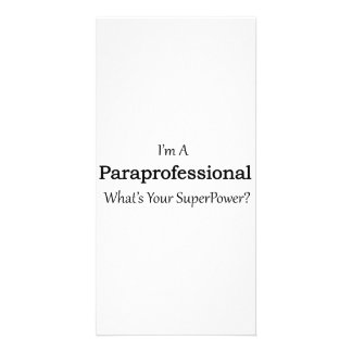 Paraprofessional Custom Photo Card