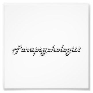 Parapsychologist Classic Job Design Photo