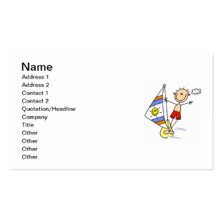 Parasailing Stick Figure Pack Of Standard Business Cards