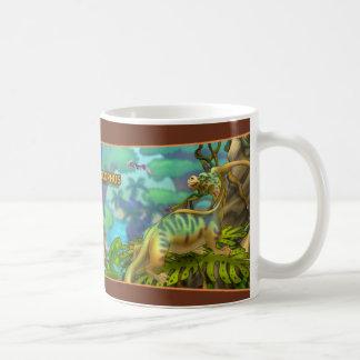 Parasaurolophus Dinosaur Basic White Mug