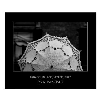 PARASOL IN LACE, VENICE, ITALY POSTER