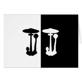parasol mushroom greeting card