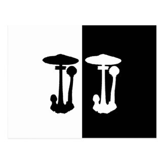 parasol mushroom postcard