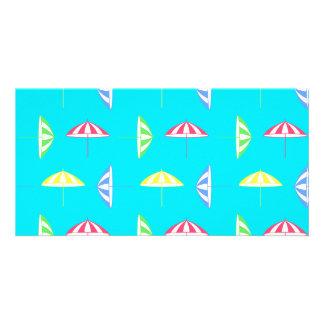 Parasol pattern photo card template