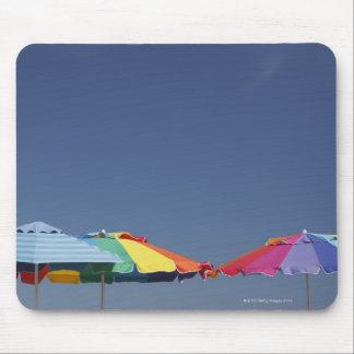 Parasols at the beach. Sun-umbrellas. Mouse Pad