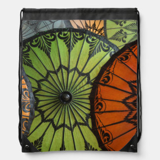parasols for sale, bagan, myanmar drawstring bag