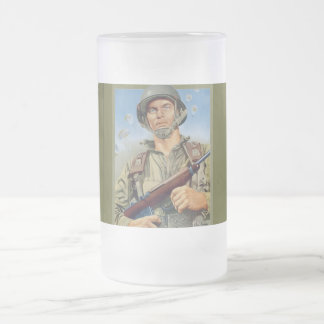 Paratrooper 2 frosted glass mug