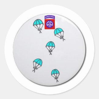 Paratrooper FUNNY Round Sticker
