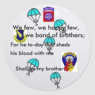 Paratrooper FUNNY Stickers