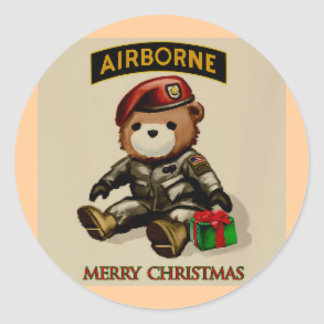 paratrooper FUNNY Classic Round Sticker