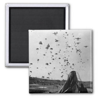 Paratroopers of the 187th RCT_War Image Square Magnet