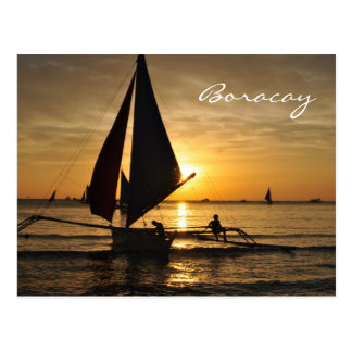 Paraw Sailboat in Boracay Postcard