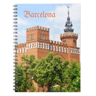 Parc de la Ciutadella in Barcelona Notebook