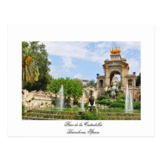 Parc de la Ciutadella in Barcelona Postcard